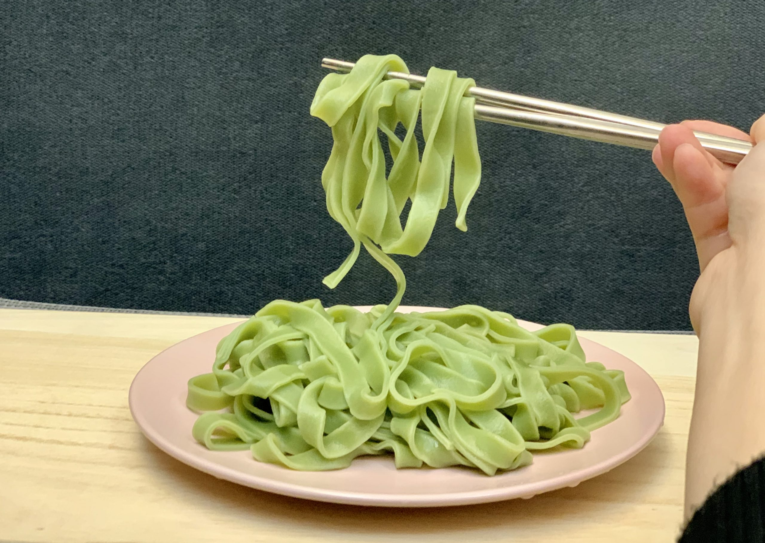 Spinach noodles4